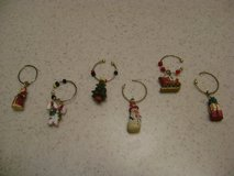 Novelty Christmas Wine Glass Charms - Set Of 6 in Kingwood, Texas