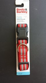 Boots & Barkley Red/Grey Reflective Large Dog Collar in Aurora, Illinois