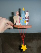 Silvestri Jointed Wooden Christmas Tree Ornament ? Pull-String in Kingwood, Texas