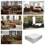 ***FURNISH YOUR HOUSE***2pc Sofa and Love, P-Top Matt Set, 6pc Bed Set in Beaufort, South Carolina