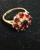 Beautiful 14kt Gold Garnet Ring January Birthstone in Cherry Point, North Carolina